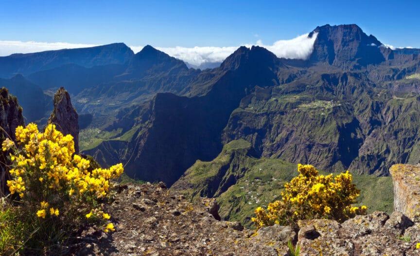 Paysage rocheux à la Réunion