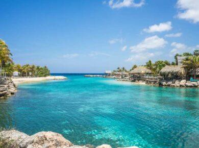 Lagon à la Guadeloupe