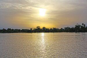 soleil couchant sur la Gambie